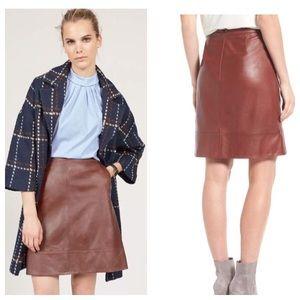 Halogen Genuine Leather High Waisted Skirt Sz 8/10